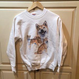 Vintage 90s dog doge  crewneck sweatshirt s